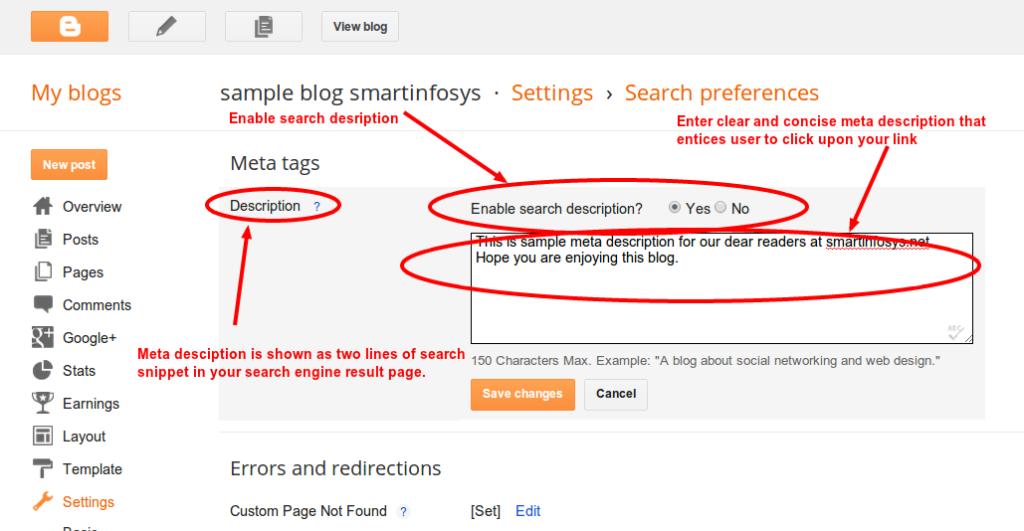 How to set meta description for your blog