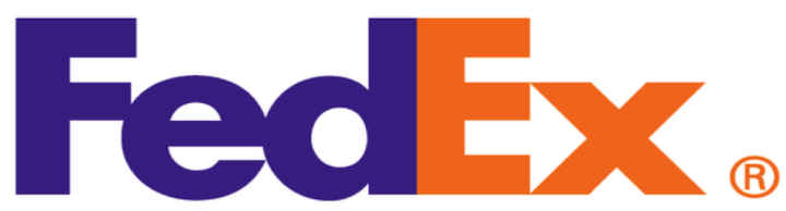 FedEx Couriers Logo using negative space