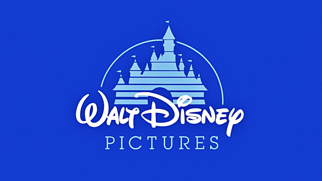Walt Disney pictures logo with fairy castle in background