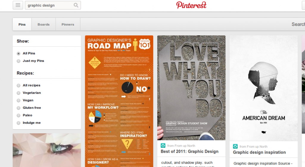 Pinterest.com screenshot