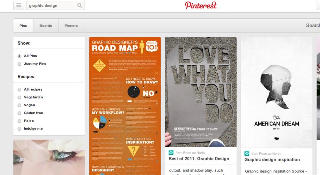 Pinterest.com screenshot