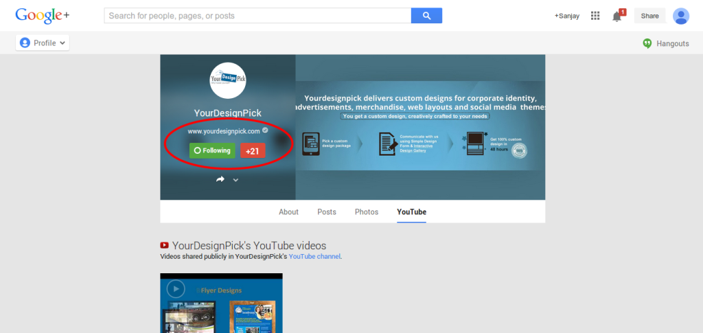 Google Plus Page for Social Media Marketing