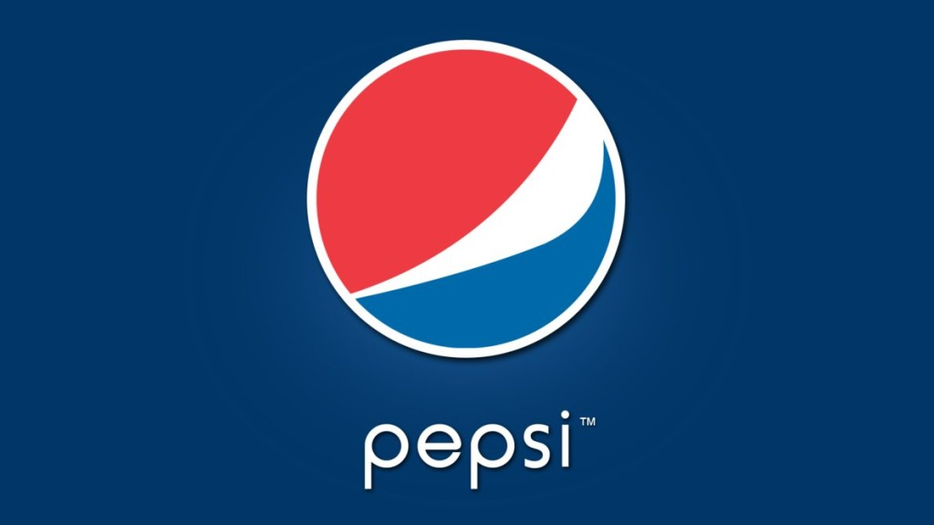 Pepsi logo making significant use of blue & red color