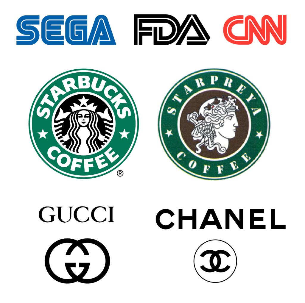Similar brand logos