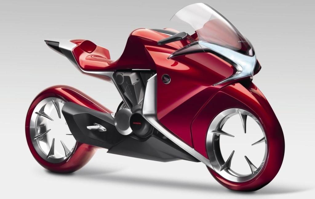 Design inspiration from bikes- Honda V4 Concept