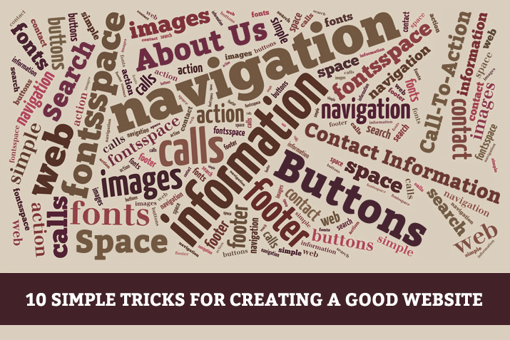 10 Simple tricks for creating a good website