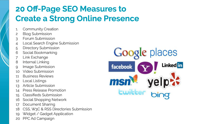 20 Off-Page SEO Measures to Create a Strong Online Presence