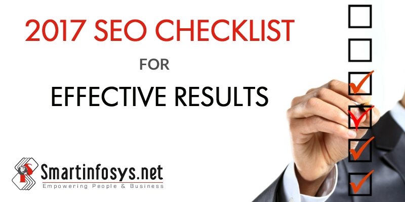 2017 SEO Checklist for Effective Results