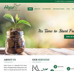 Hope Finance - WordPress website