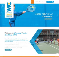 Waverley Tennis Coaching - WordPress website