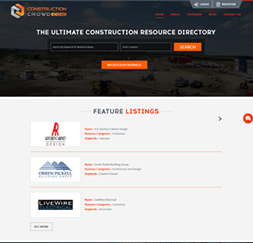 Construction Crowd - WordPress website