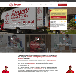Johnson Moving & Storage - WordPress website