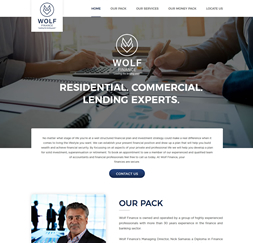 Wolf Finance - WordPress website