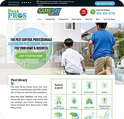 Pest Pros - Wordpress Website Maintenance