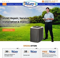 Riley Heat & Air - Wordpress Website Maintenance