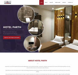 Hotel Parth - Single Page Website