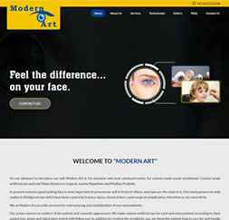Modern Art Eye - Single Page Website