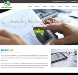 Fresh Data Provider - Single Page Website