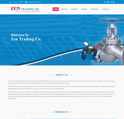 Zen trading - Single Page Website